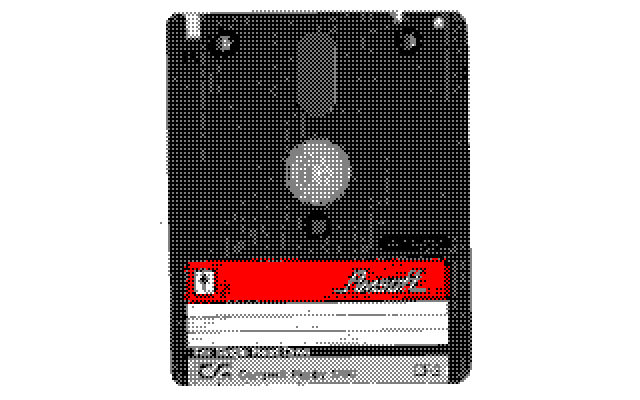 Amsoft CF-2 floppy disk converted to Amstrad 4 color palette with Image-To-Amstrad-CPC ImgToCPC